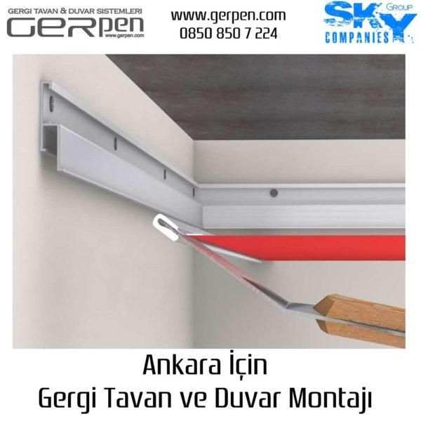 Ankara Gergi Tavan ve Duvar Montajı