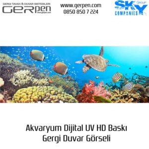 Gergi Duvar Akvaryum 35x100cm
