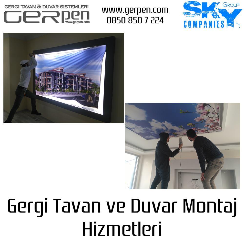 Gergi Tavan & Duvar Montajı