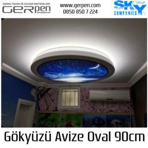 Gökyüzü Avize Oval 90cm