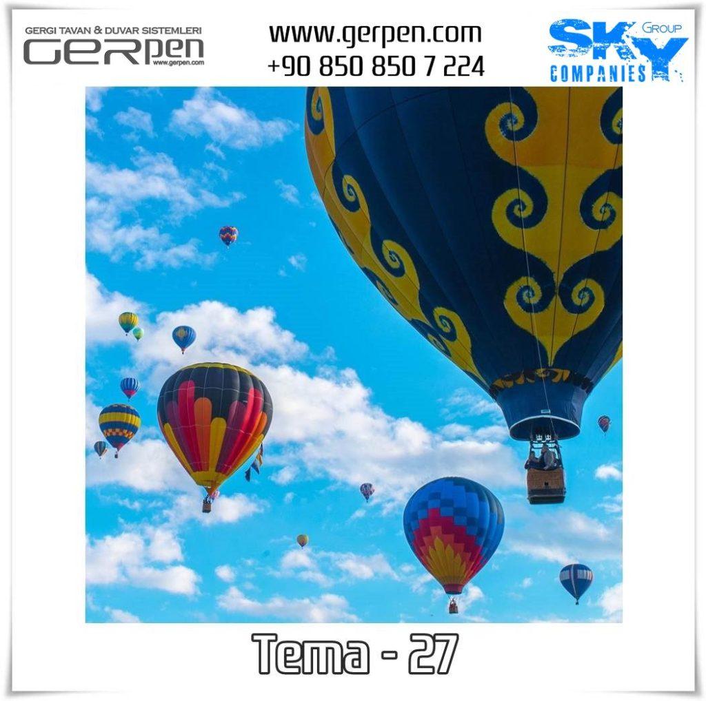 Gergi Tavan Balonlu Gökyüzü Tema 27