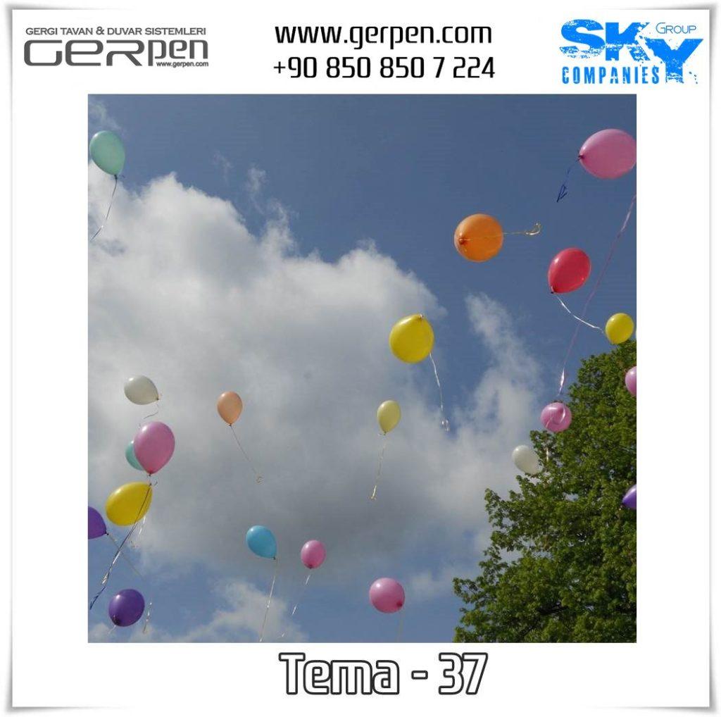 Gergi Tavan Balonlu Gökyüzü Tema 37