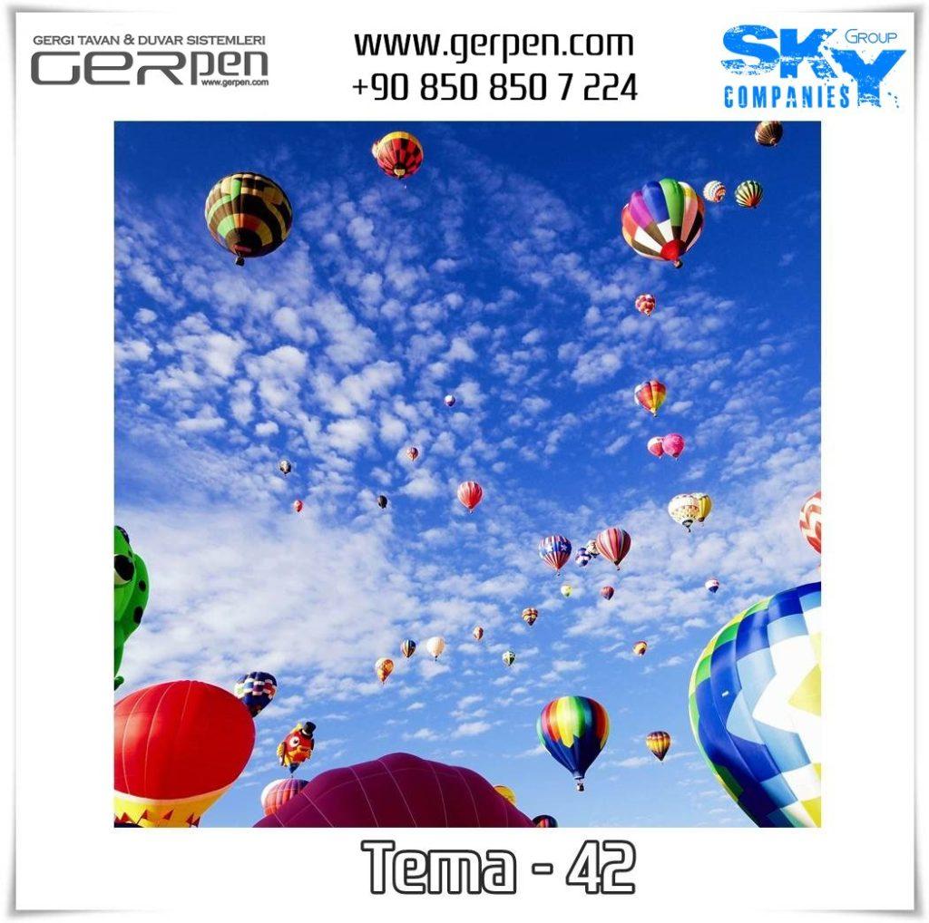 Gergi Tavan Balonlu Gökyüzü Tema 42
