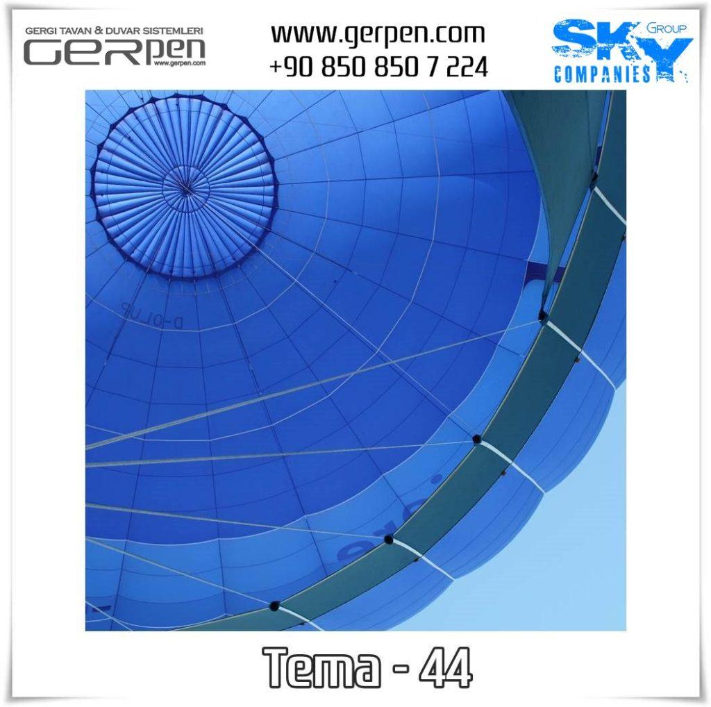 Gergi Tavan Balonlu Gökyüzü Tema 44